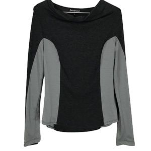 Betabrand Long Sleeve Top Black Grey Size Small